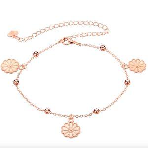 Jewelry - Boho Flower Charm Bracelet Stainless Steel Anklet